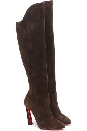 Christian Louboutin Eleonor Botta 100 suede knee-high boots