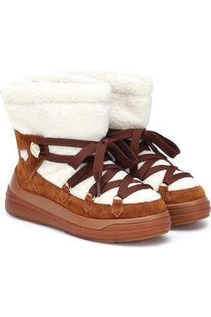 Moncler Insolux suede and shearling snow boots