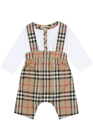Burberry Baby Vintage Check bodysuit and overalls set