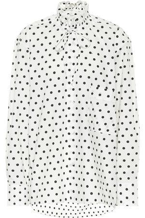 Plan C Polka-dot cotton blouse