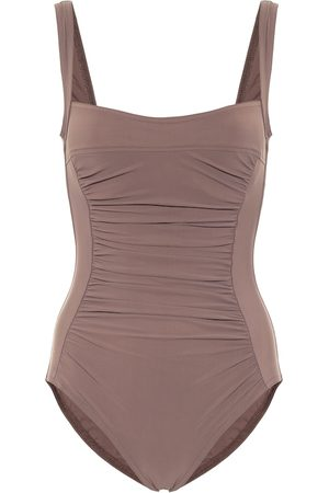 Karla Colletto Basics ruched swimsuit