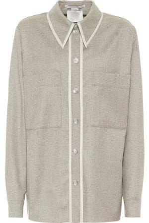 Stella McCartney Ariel wool flannel shirt