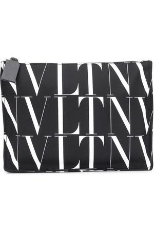 VALENTINO GARAVANI Logo-print clutch bag