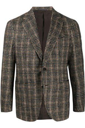 CARUSO Men Blazers - Check single-breasted blazer