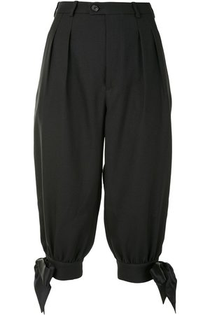 Maison Margiela Tie detail cropped tailored trousers