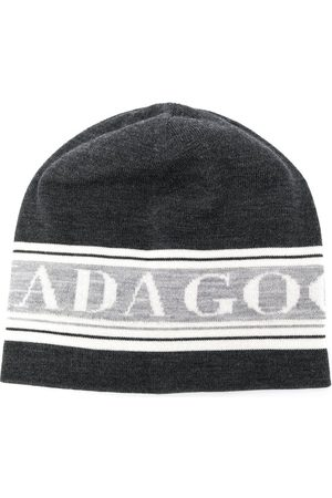 Canada Goose Logo-jacquard beanie hat - Grey