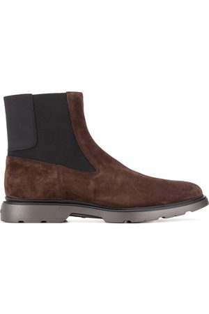 Hogan Panelled suede Chelsea boots