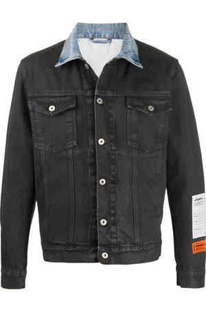 Heron Preston Contrasting-collar denim jacket