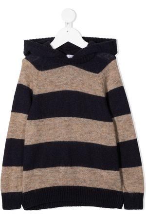 Brunello Cucinelli Kids Wide stripes knitted jumper