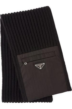 Prada Zipped pocket knitted scarf