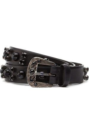 Dolce & Gabbana Men Belts - Crystal-embellished leather belt