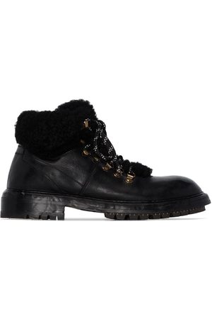 Dolce & Gabbana Fur lined hiking boots