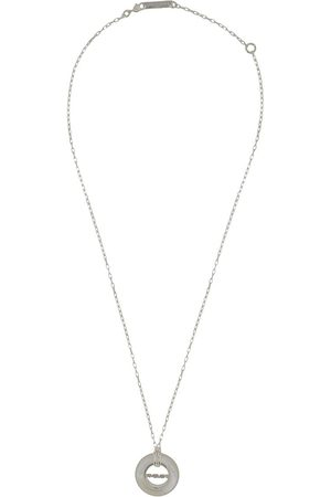 AMBUSH Carved stone pendant necklace