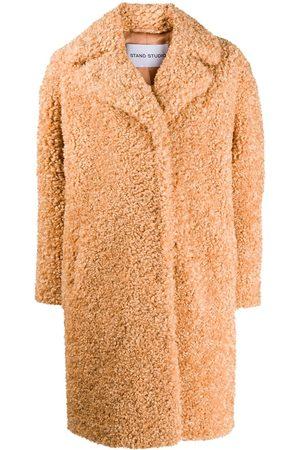 Stand Studio Lisbeth single breasted teddy coat - Neutrals