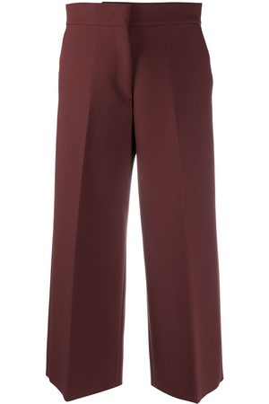Msgm Cropped wide-leg trousers