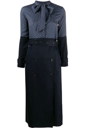 Rokh Scarf-neck trench style dress