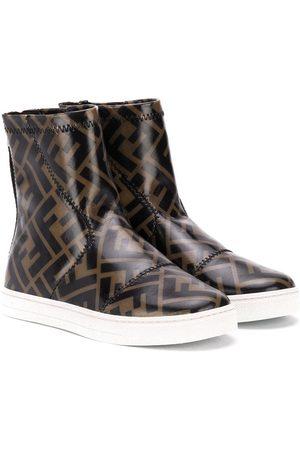 Fendi FF logo-print boots