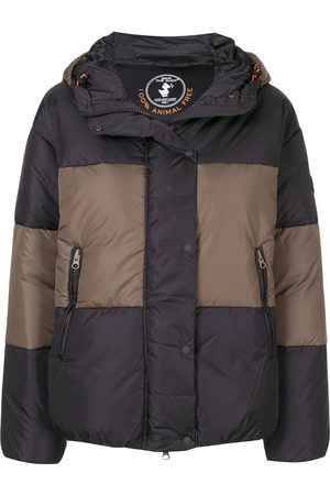 save the duck Synthetic down colour-block hooded jacket
