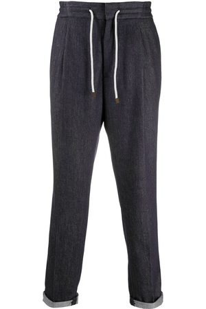 Brunello Cucinelli Drawstring straight-leg trousers