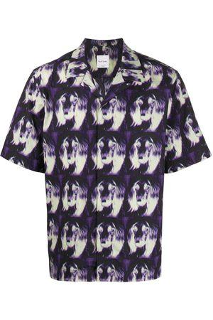 Paul Smith Men Short sleeves - Printed short-sleeved shirt