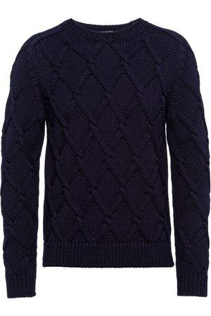 Prada Diamond cable-knit jumper