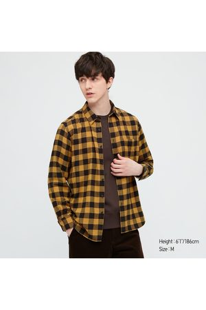 UNIQLO Men's Plaid Flannel Checked Long-Sleeve Shirt, , XXS