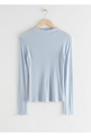 & OTHER STORIES Fitted Merino Blend Knit Top