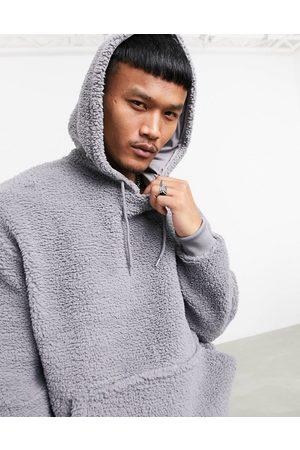 ASOS Hoodies - Oversized hoodie in teddy borg