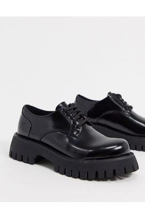 Koi Footwear Women Heels - Eagle vegan chunky lace up shoes in