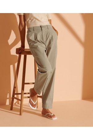 Superdry Wide Taper Pleated Trousers