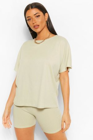 Boohoo Womens Oversized T-Shirt And Cycling Short Co-Ord Set - - 2