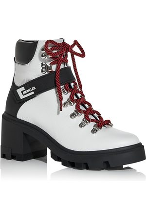 Moncler Women's Carol Block Heel Hiking Boots