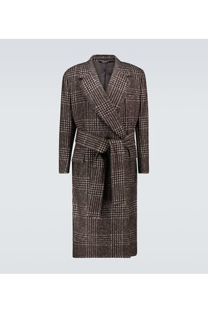 Dolce & Gabbana Belted checked overcoat