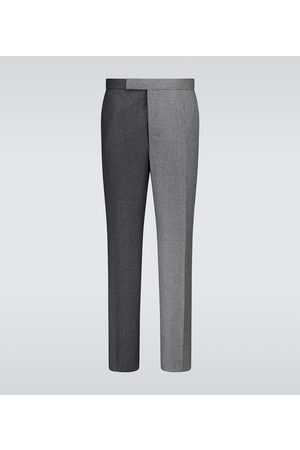Thom Browne Super 120s Flannel classic backstrap pants