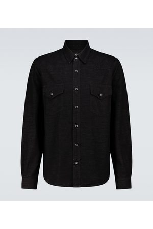 AMIRI Lurex denim Western shirt
