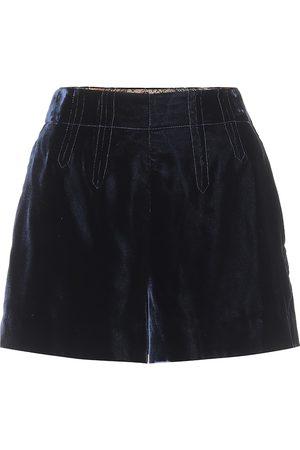 Etro Exclusive to Mytheresa – High-rise velvet shorts