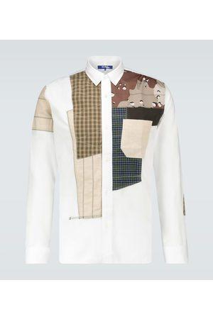 JUNYA WATANABE Military patchwork regular-fit shirt