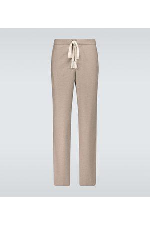 Auralee Wool flannel drawstring pants