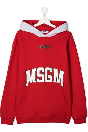 Msgm Logo print hoodie
