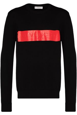 Givenchy Logo-band crew-neck jumper