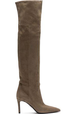 Prada Pointed toe thigh-length boots