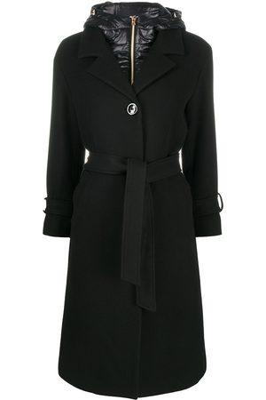 HERNO Padded hood tie coat