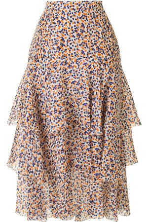 DELPOZO Dotted-print silk skirt