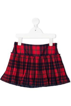 Il gufo Check flared skirt