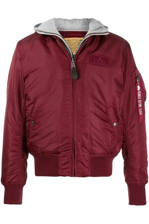 Alpha Industries Men Bomber Jackets - Hooded bomber jacket
