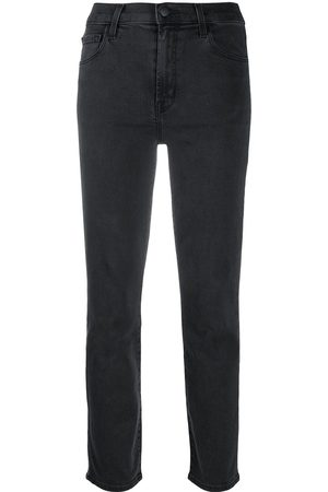 J Brand Mid-rise cropped jeans - Grey
