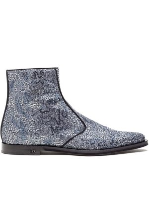 Dolce & Gabbana Sequin-detail ankle-length boots - Grey