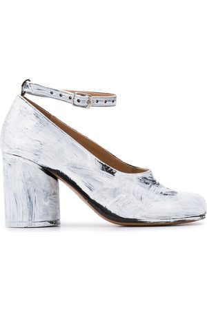 Maison Margiela Metallic-effect 90mm Tabi pumps