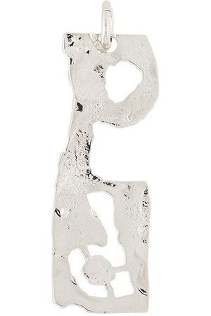 Acne Studios P metal pendant