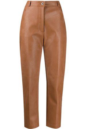 Stella McCartney Hayley faux-leather trousers - Neutrals